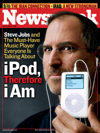Steve Jobs on the cover of Newsweek with the new iPod