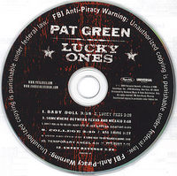 Pat Green CD, notice all the FBI warnings