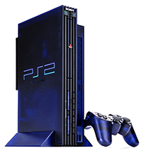 Playstation 2 system and the offending controllers