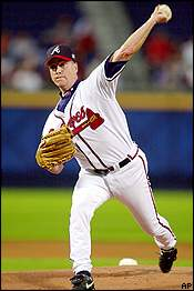 Tom Glavine when he was with the Braves